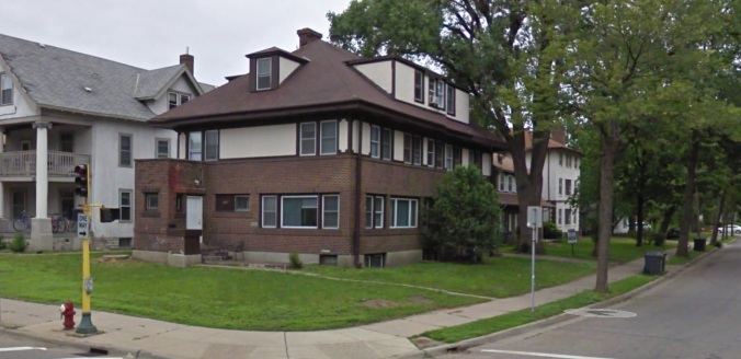 House at 11th Ave and University Ave in Minneapolis, MN - via Google Maps